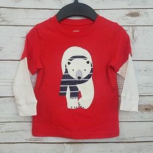 Carter's Polar Bear Shirt Size 2T